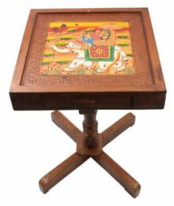 Royal Rajasthan Rectangle with Storage Outdoor & Cafeteria Stool Multicolor