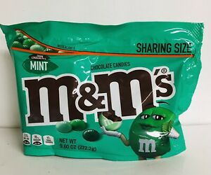 M & M's Dark Chocolate Mint ~ Chocolate Candy Sharing Size 9.60 oz