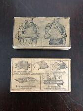 Vintage Wwii Triangular Bandage & Gauze Compress In Orginal Box