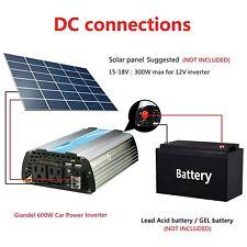 GIANDEL 600W Modified Wave Power Inverter 12V to 120V, 20A Solar Input, US