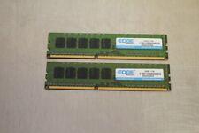 LOT OF 2 SAMSUNG/EDGE 8GB 2Rx8 PC3L-12800E DDR3 ECC REG MEMORY MODULES