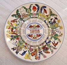 Wedgwood Calendar Plate 1976