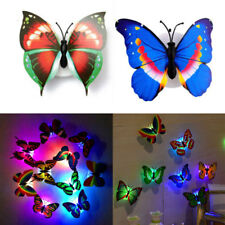 7-Color Changing LED Light Lamp Butterfly Night Fairy Kids Room Party Wall Decor