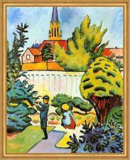 Kinder im Garten August Macke Stadtmauer Naschen Pflücken Mittag LW H A2 0044