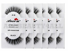 Amor Us 100% Human Hair False Eyelashes #43 (pack of 6 pairs) compare Red Cherry