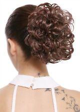 Hair Piece Hair Bun Short Wide Voluminous Braid Curls Blonde Braun Mix