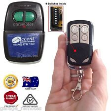 Remote Control compatible with ACCENT Garage Doors CAD602 B&D Homelink 9 switch