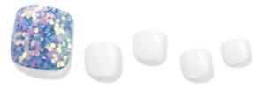 [DASHING DIVA]2021 New Press On premium gel pedicure_Superslim Fit_Blue bubble