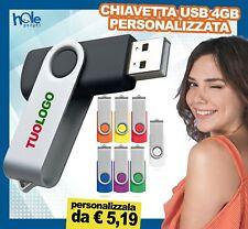 Chiavetta USB personalizzata pennino 4gb gadget pubblicitario personalizzati