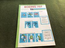 safety card tea boeing 737
