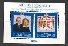 Liechtenstein neuf sans charnière 1992 MS1036 liba 92 & argent mariage anv mini feuille