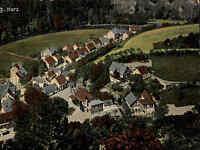 TRESEBURG Thale Bodetal AK um 1910 Vogelschaublick Dorf Totalansicht Postkarte