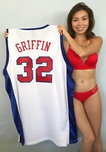 Blake Griffin Clippers authentic Adidas game model stitched white rookie jersey