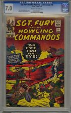 SGT. FURY AND HIS HOWLING COMMANDOS #19 CGC 7.0 OFF-WHITE PAGES MARVEL