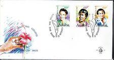 Dutch Antilles / Aruba - 1996 Women - Mi. 182-84 clean unaddressed FDC