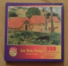 Les Trois Huttes Paul Gaugin art jigsaw puzzle, 550 pieces, Hoyle