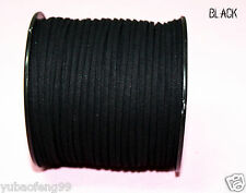 10yd 3mm black Suede Leather String Jewelry Making Thread Cords