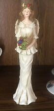 "ANGEL Candlestick Tapered Candle Holder Fruit Horn Resin 9"" CBK Ltd Figurine"