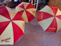 Lot Of 3 Vintage Kodak Umbrellas