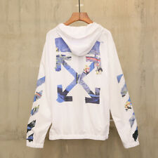 Off White sun protection hoodie Virgil Abloh Pyrex Vision street sweatshirt.