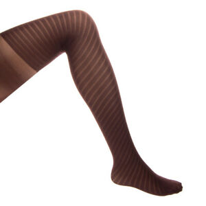 WOLFORD LAISA Opaque Tights Size XS / EU 34-36 / UK 6-8 Striped Partly Sheer
