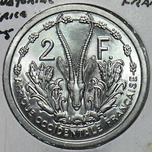 French Equatorial Africa 1955 2 Francs Gazelle animal 297848 combine