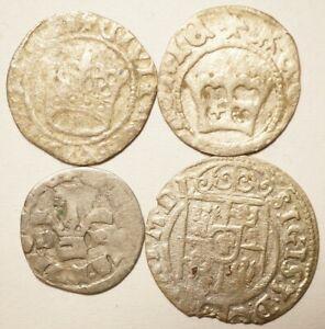 LOT DE 4 MONNAIES POLOGNE & HONGRIE (Moyen-Age-Renaissance)