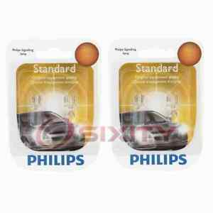 2 pc Philips License Plate Light Bulbs for Jeep Cherokee Compass Liberty ex