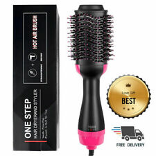 2 in 1 Straightening & Drying Hair Dryer & Hair Brush Hot Air Comb USA
