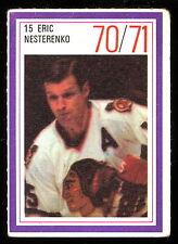 1970-71 ESSO POWER PLAYERS NHL #15 ERIC NESTERENKO EX BLACK HAWKS UNUSED STAMP