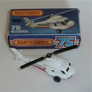 Matchbox Superfast 75 Helicopter with Original Box