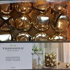 Gold Large Jingle Bell Vase Filler Unscented Set 16 New By Threshold Christmas