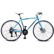 "26"" 21 Speed Road Bike Street Bicycle MTB Cycling Double Disc Brake Blue ON SALE"
