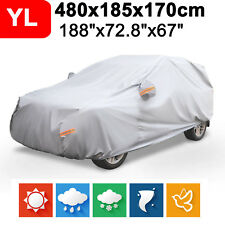L Full Car Cover Waterproof Breathable Sun UV Rain Snow Dust Resist Protection