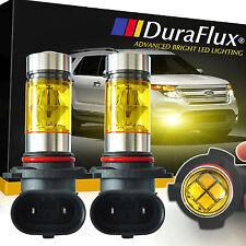 DuraFlux 2x 100W H10 9145 CREE High Power LED Fog Light Bulbs 4300K Yellow DRL