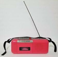 Vintage Hot Pink Boombox CT-72 AM/FM Radio Cassette Stranger Things