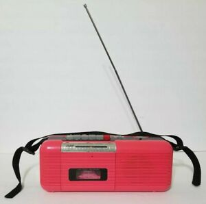 Vintage Hot Pink Boombox CT-72 AM/FM Radio Cassette Stranger Things