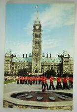 Vintage Postcard Parliament Hill Ottawa Ontario Canada Change Guard Eternal Flam