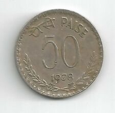 INDIA 1978 REPUBLIC OF INDIA 50 PAISE COIN -NICE CONDITION