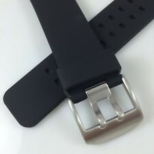 24MM HQ RUBBER WATCH BAND PU 24 MM STRAP For Hamilton sty 22mm Steel Clasp