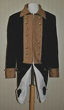 Revolutionary War Continental Army Frock Blue w/Tan Collar - Size 46