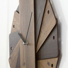 Wood Large Wall Clock Modern Design Unique Watch Wall Clocks Home Decor Silent
