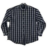 Mens 2XL Polo Ralph Lauren Button Up Shirt Lowell Sport Long Sleeve Plaid Blue
