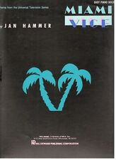 """MIAMI VICE"" SHEET MUSIC-EASY PIANO SOLO-THEME FROM THE TV SHOW-1985-NEW-SALE!!"