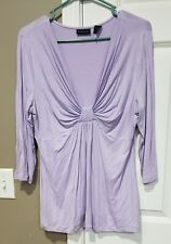 Women's Clothing large Top ny and company lavendar
