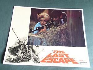 "STUART WHITMAN - MARGIT SAAD   - "" THE LAST ESCAPE ""  - LOBBY CARD - 11X14"