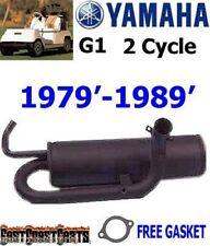 Yamaha G1 Gas Golf Cart Exhaust Muffler for 2 Cycle Models J24-14610