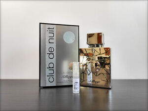 Armaf Club De Nuit Sillage 2ml Sample Decant Eau the Parfum Citrusy Fresh SMW