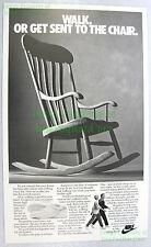 NITF Vintage NIKE Poster ☆ Healthwalker ☆ Walk or the Rocking Chair ☆ PDC Ref St