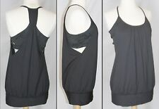 Lululemon No Limit Tank top 8 black solid and camo attached bra New